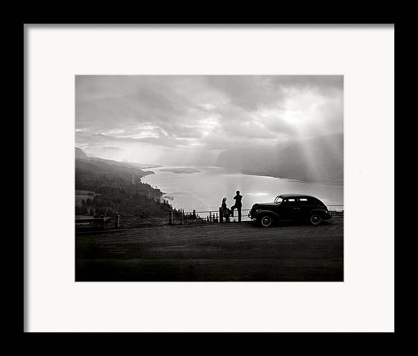 Framed Print featuring the photograph Columbia Gorge by Ray Atkinsen