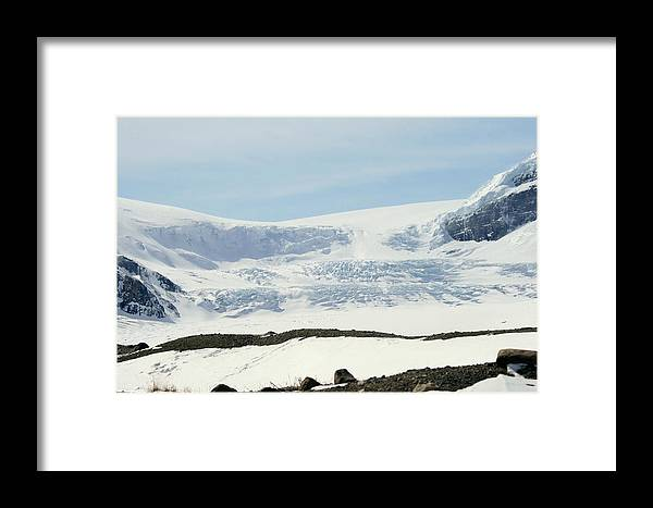 Glacier Framed Print featuring the photograph Columbia Icefields by Tiffany Vest