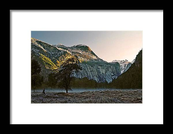 Yosemite Framed Print featuring the painting Columbia Rock by Larry Darnell