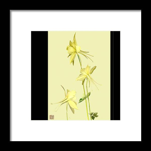 Flower Framed Print featuring the photograph Columbine by Lloyd Liebes