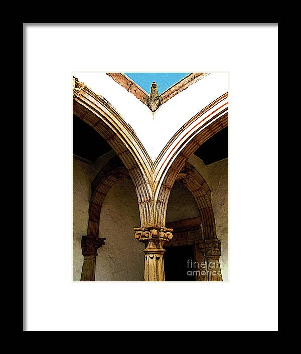 Patzcuaro Framed Print featuring the photograph Column And Arch by Mexicolors Art Photography