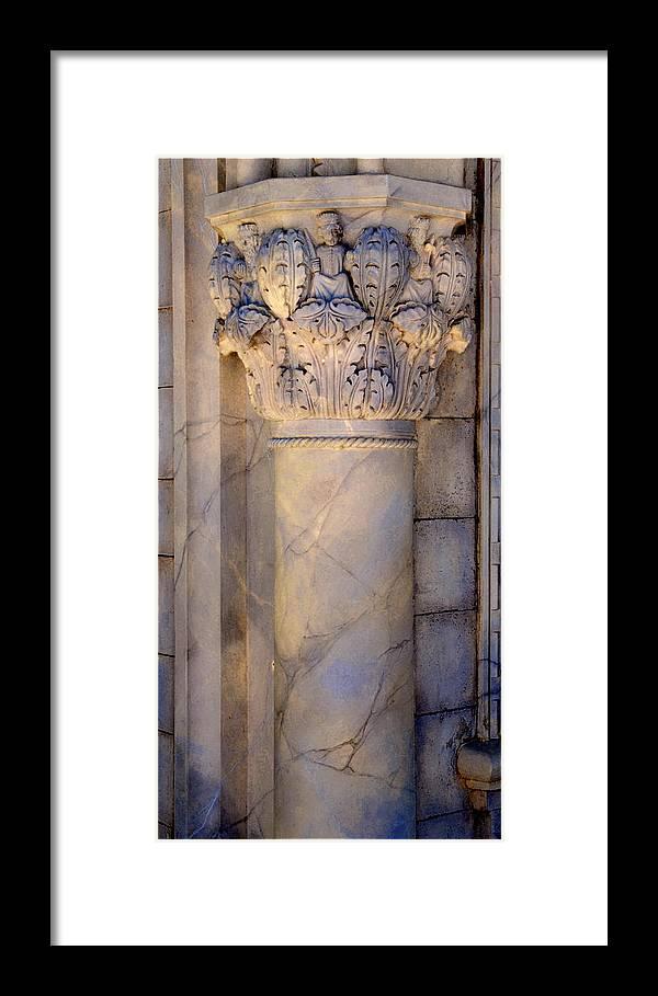 Column Framed Print featuring the photograph Column Decor by Lyle Huisken