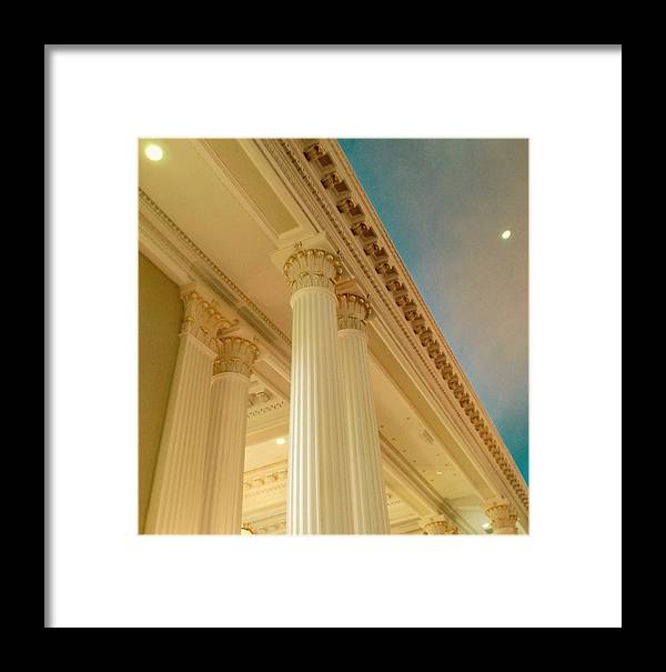 Framed Print featuring the photograph Columns To Heaven by Jacqueline Manos