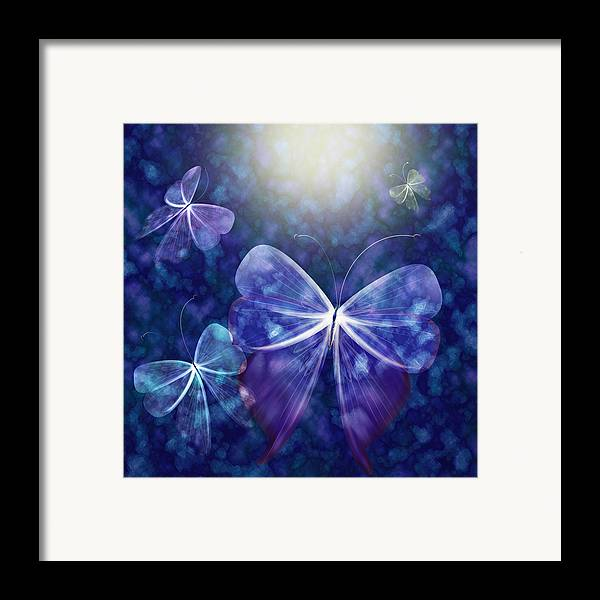 Butterfly Framed Print featuring the digital art Come Into The Light by Gae Helton