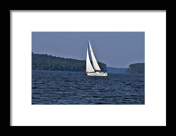 Landscape Framed Print featuring the photograph Come Sail With Me by Michael Whitaker