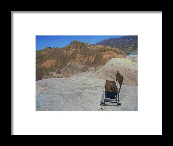Death Valley Framed Print featuring the photograph Come Sit Awhile In Death Valley by Don Struke