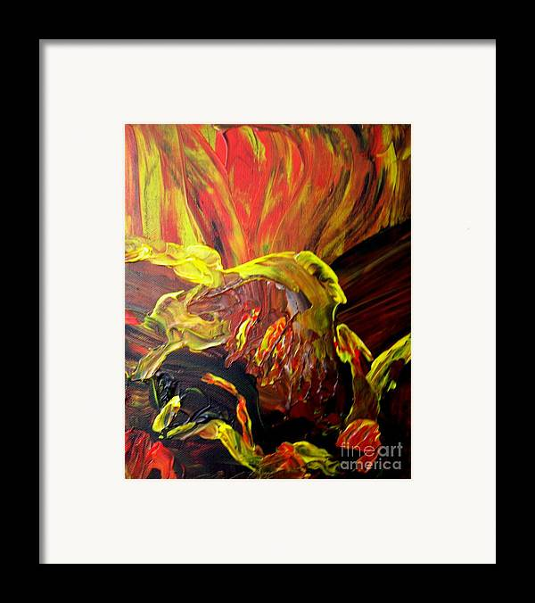 Bird Framed Print featuring the painting Come To Me by Karen L Christophersen