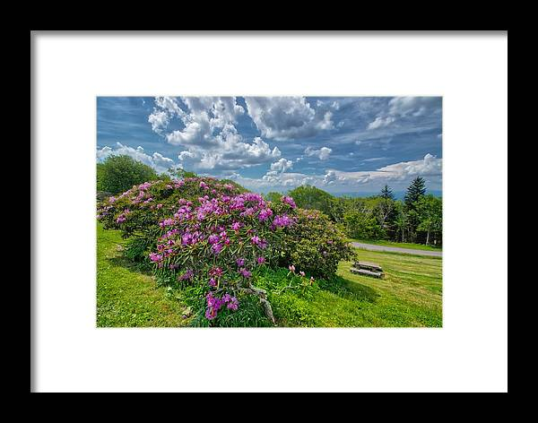 Blue Ridge Parkway Framed Print featuring the photograph Come To The Craggy by Dana Foreman