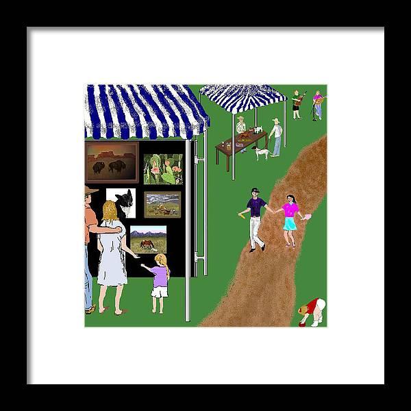 Fair Framed Print featuring the digital art Come To The Fair by Carole Boyd