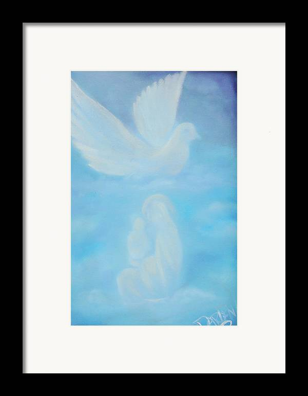Dove Framed Print featuring the painting Come Unto Me by Darlene Green