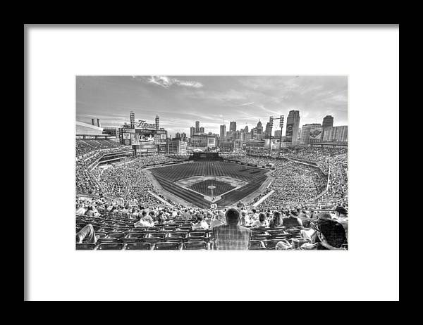 Giant Tiger Framed Print featuring the photograph Comerica Park by Nicholas Grunas