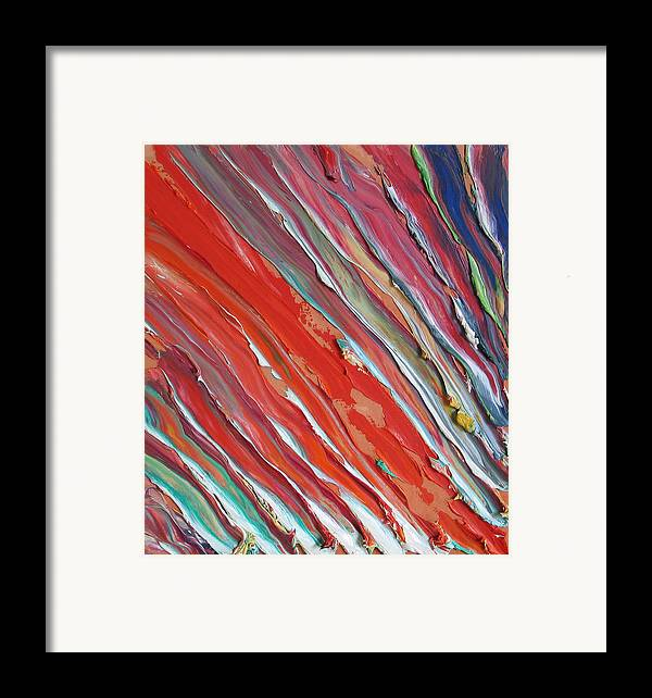 Abstract Framed Print featuring the painting Comet Tail. Colorful Painter Palette. Exhausted Paint And Abstract Painting. by Vitali Komarov