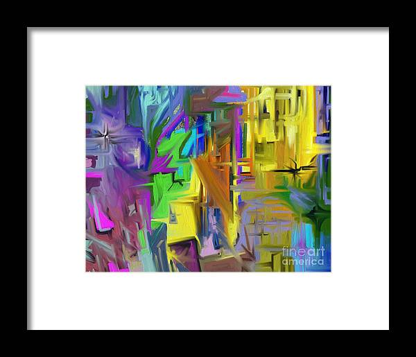 Abstract Framed Print featuring the painting Comfort by Jo Baby