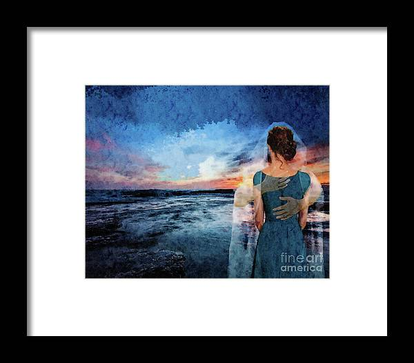 Ocean Framed Print featuring the mixed media Comfort by Karin Foreman