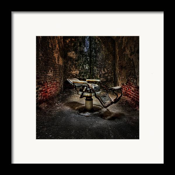 Chair Framed Print featuring the photograph Comfortably Numb by Evelina Kremsdorf
