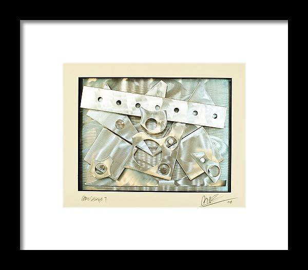 Aluminum Framed Print featuring the sculpture Comic Stip 7 by Mac Worthington