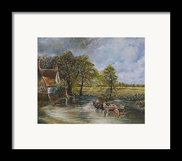 Landscape Framed Print featuring the painting Coming Home by Wendy Chua