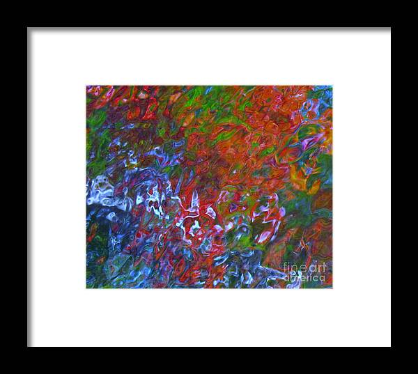 Abstract Framed Print featuring the photograph Coming Together by Sybil Staples