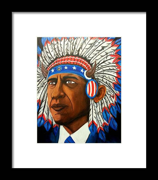 Dossome Framed Print featuring the painting Commander And Chief by Brian Doss
