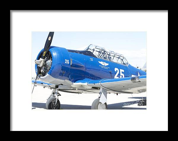 Aircraft Framed Print featuring the photograph Commemorative Warbird by Pamela Walrath