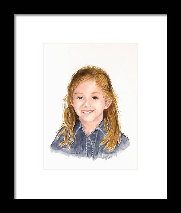Portraits Framed Print featuring the painting Commissioned Portrait 3 by Diane Ziemski