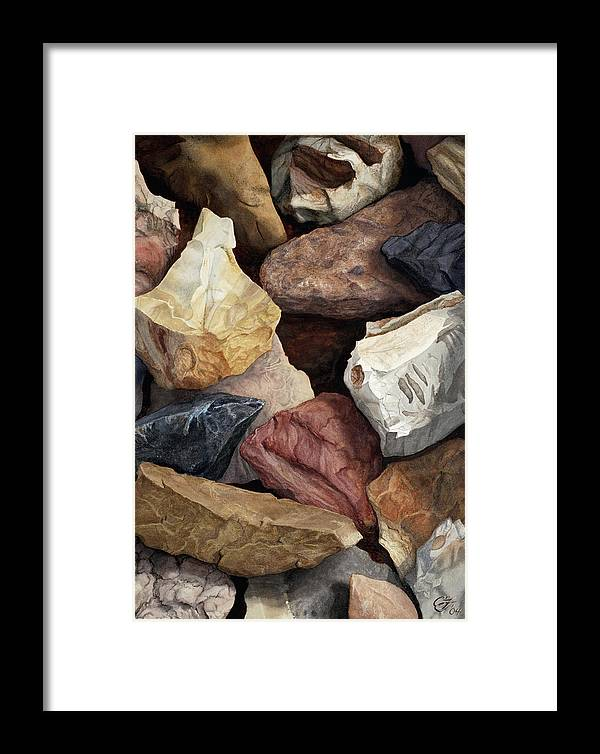 Stones Framed Print featuring the painting Commonstone Too by Craig Gallaway