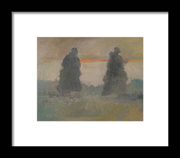 Figure Framed Print featuring the painting Commune by Robert Bissett