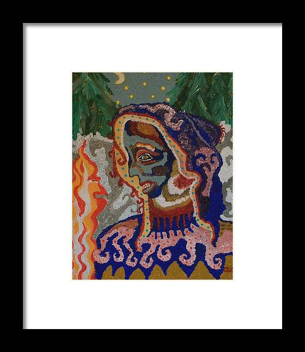 Abstract Framed Print featuring the painting Communion by Carolyn Cable