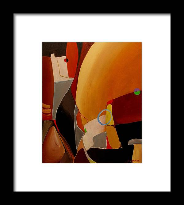 Oil Framed Print featuring the painting Commute IIi by David McKee