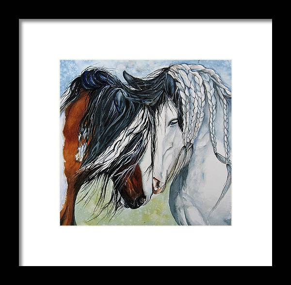 Equine Framed Print featuring the painting Companions by Gina Hall
