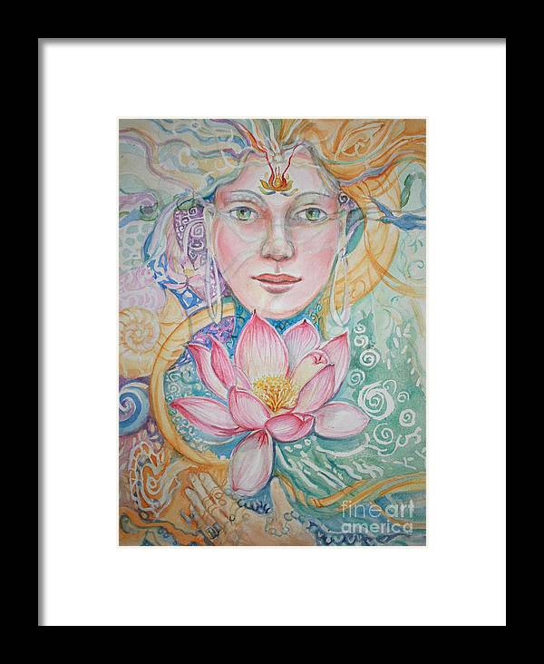 Fantasy Framed Print featuring the painting Compassion by Catherine Moore