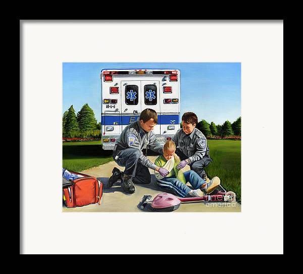 Ems Framed Print featuring the painting Compassion by Paul Walsh
