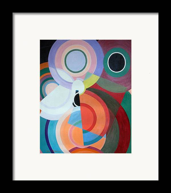 Abstract Framed Print featuring the painting Complement by Muriel Dolemieux