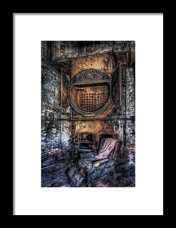 Abandoned Framed Print featuring the photograph Completely Burnt Out by Richard Bean