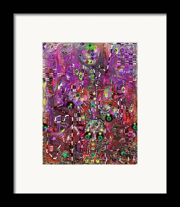 Complexity Framed Print featuring the digital art Complexity by Marko Mitic