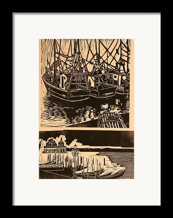 Framed Print featuring the print Composite Of Two Woodcuts by Biagio Civale