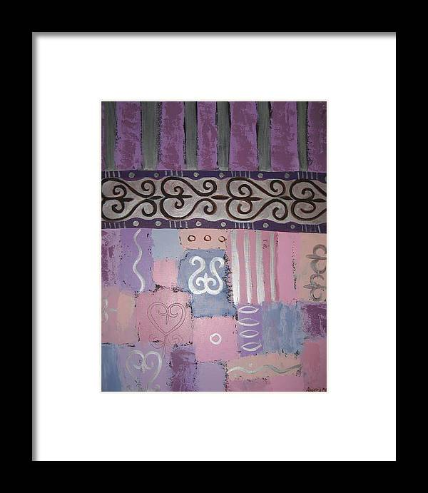 Abstract Framed Print featuring the painting Composition 2 by Aliza Souleyeva-Alexander