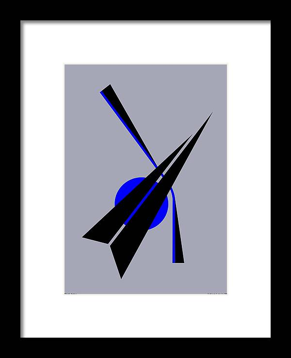 Black Arrow Framed Print featuring the digital art Composition Black Arrow by Asbjorn Lonvig