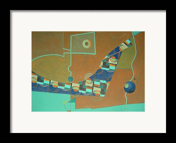 Abstract Art Framed Print featuring the painting Composition IIi-07 by Maria Parmo