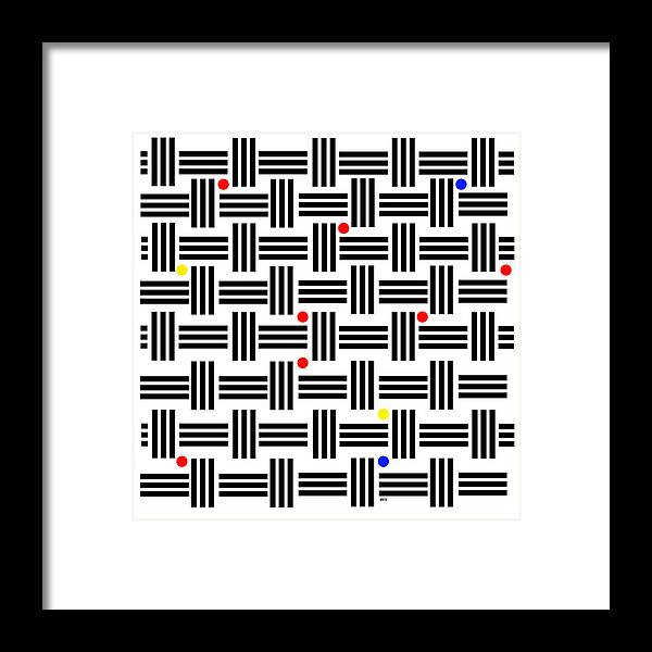 Abstract Art Framed Print featuring the digital art Composition 2 by Lois Boyce