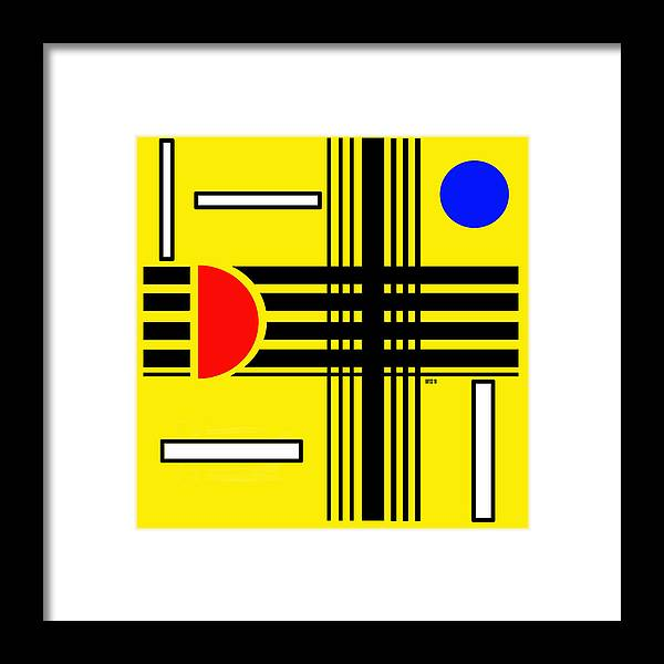 Abstract Framed Print featuring the digital art Composition 3 by Lois Boyce