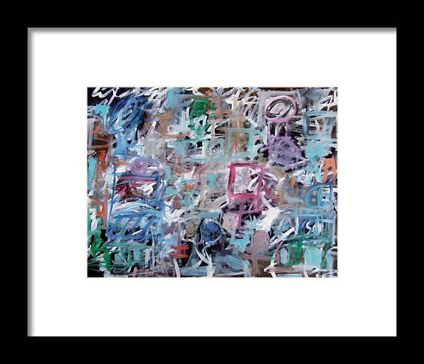 Abstract Framed Print featuring the painting Composition No. 1 by Michael Henderson