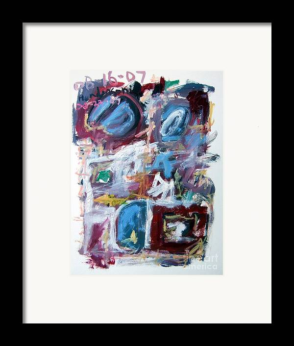 Abstract Framed Print featuring the painting Composition No. 10 by Michael Henderson