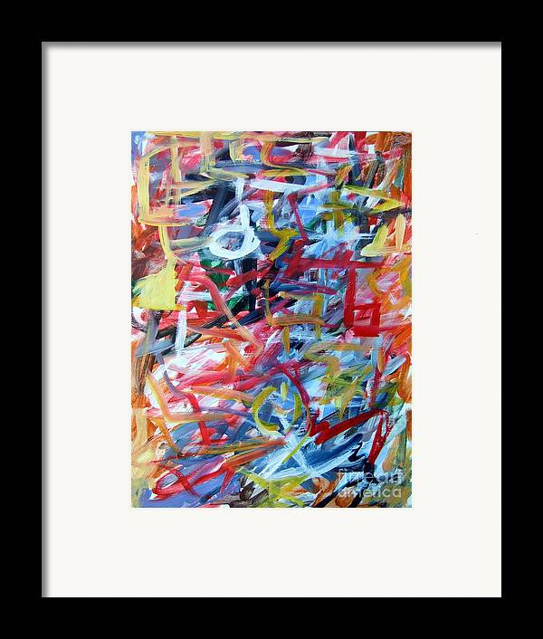 Abstract Framed Print featuring the painting Composition No. 11 by Michael Henderson
