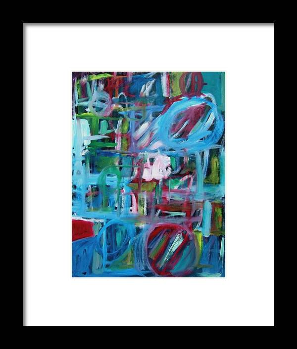 Abstaract Framed Print featuring the painting Composition No 2 by Michael Henderson