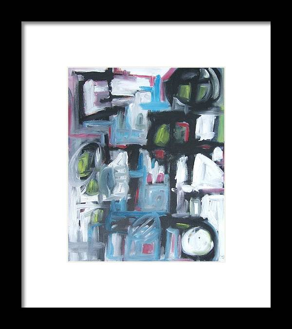 Abstract Framed Print featuring the painting Composition No. 3 by Michael Henderson