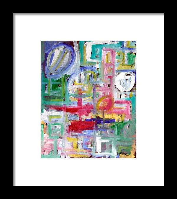 Abstract Framed Print featuring the painting Composition No. 5 by Michael Henderson