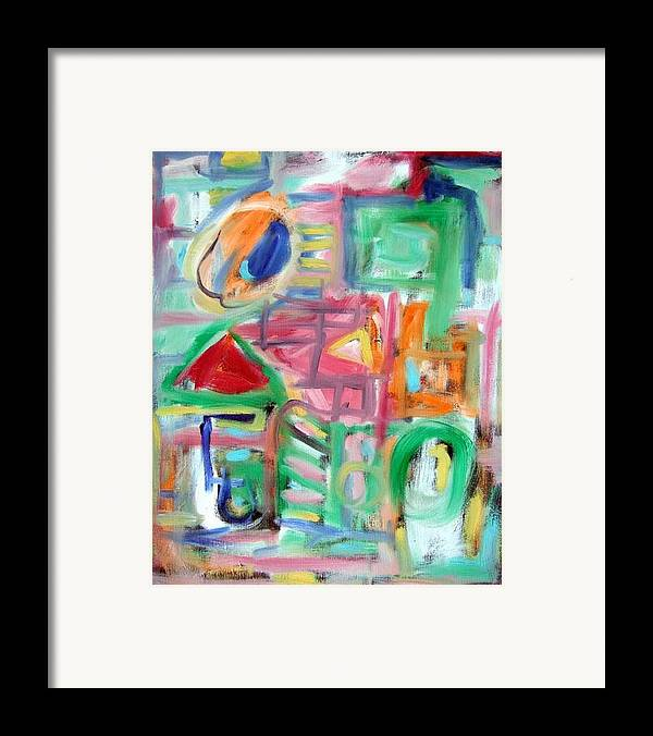 Abstract Framed Print featuring the painting Composition No. 6 by Michael Henderson