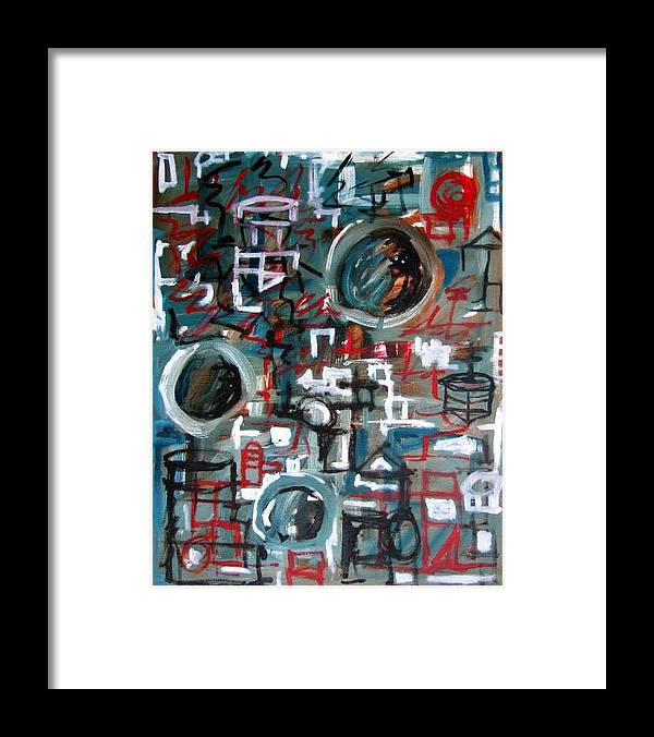 Abstract Framed Print featuring the painting Composition No 9 by Michael Henderson