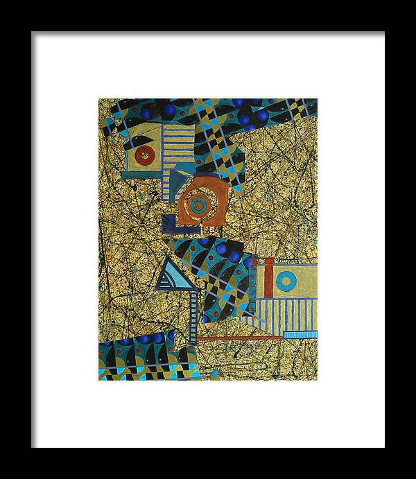 Framed Print featuring the painting Composition Vi 07 by Maria Parmo